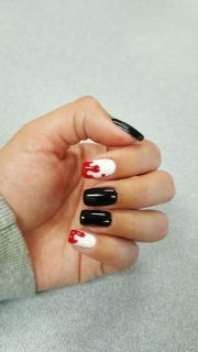 blood drip nail art - yelp