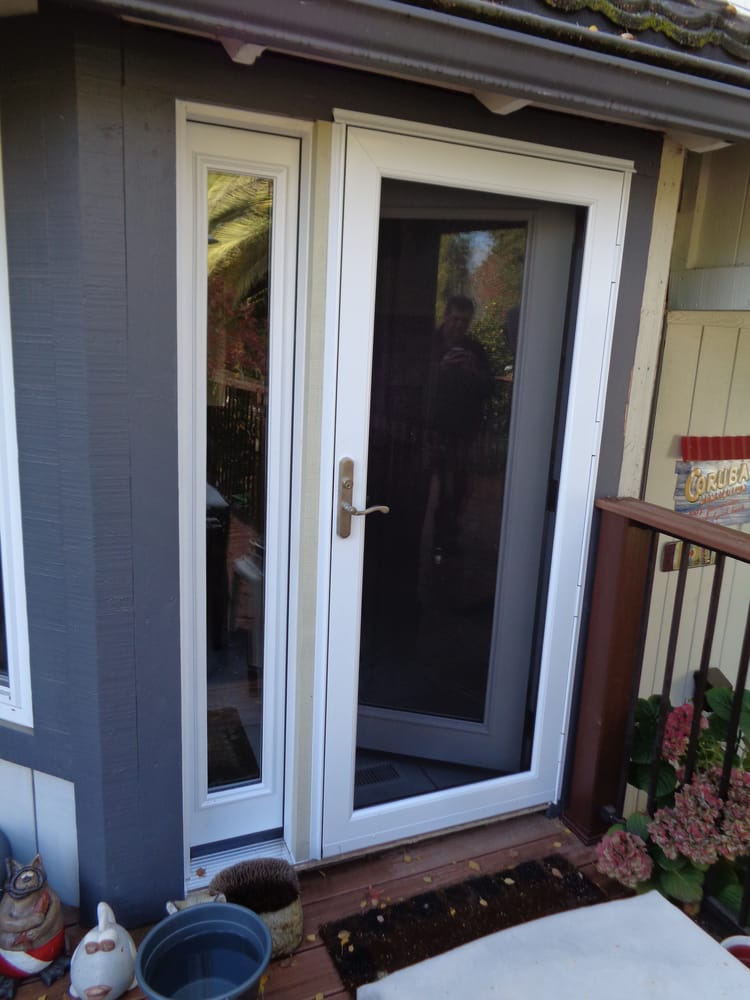 kitchen entry doors curtains pinterest new rear door off the with sidelight and glass storm photo of store sacramento ca united states