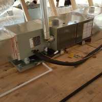 The complete horizontal installation of the Trane furnace ...