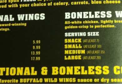 How Many Wings Come In A Large Order At Bww