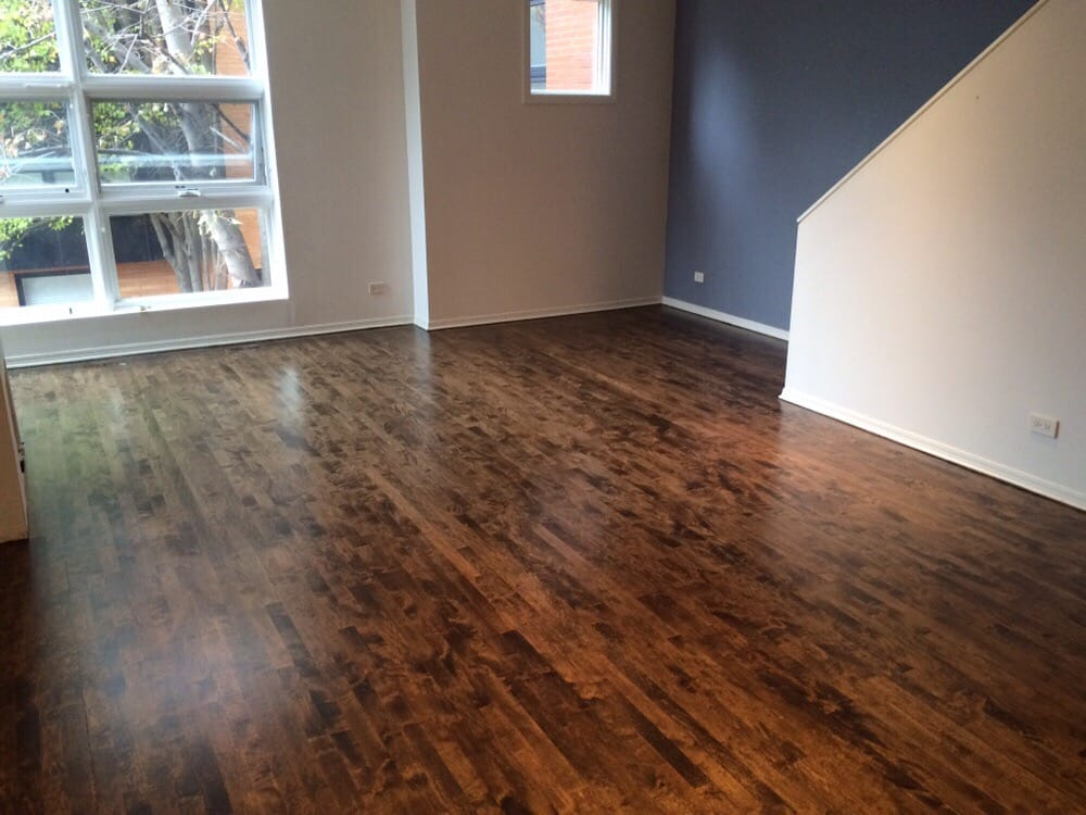 After Picture  maple floors stain dark Jacobian stain I think They look great  Yelp