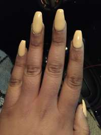 Coffin shaped gel nails. - Yelp