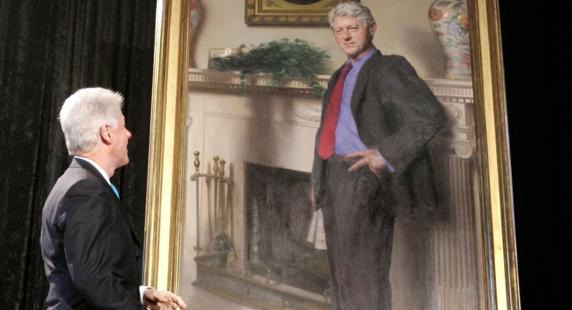 Would Hillarys Portrait Have a Shadow Too  POLITICO