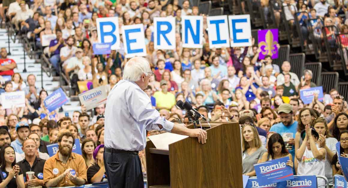 Image result for PHOTOS SANDERS RALLY