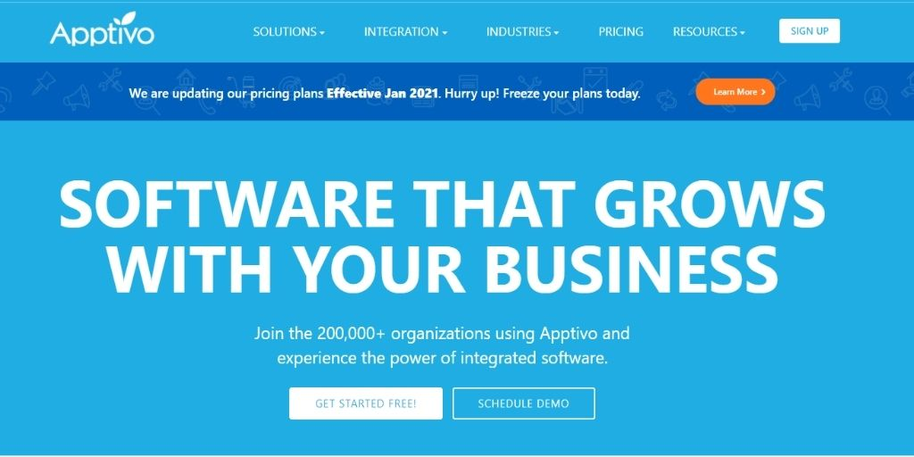 Apptivo HubSpot Agile Keap Zoho Act!-software Freshsales Salesforce CRM Software For eCommerce