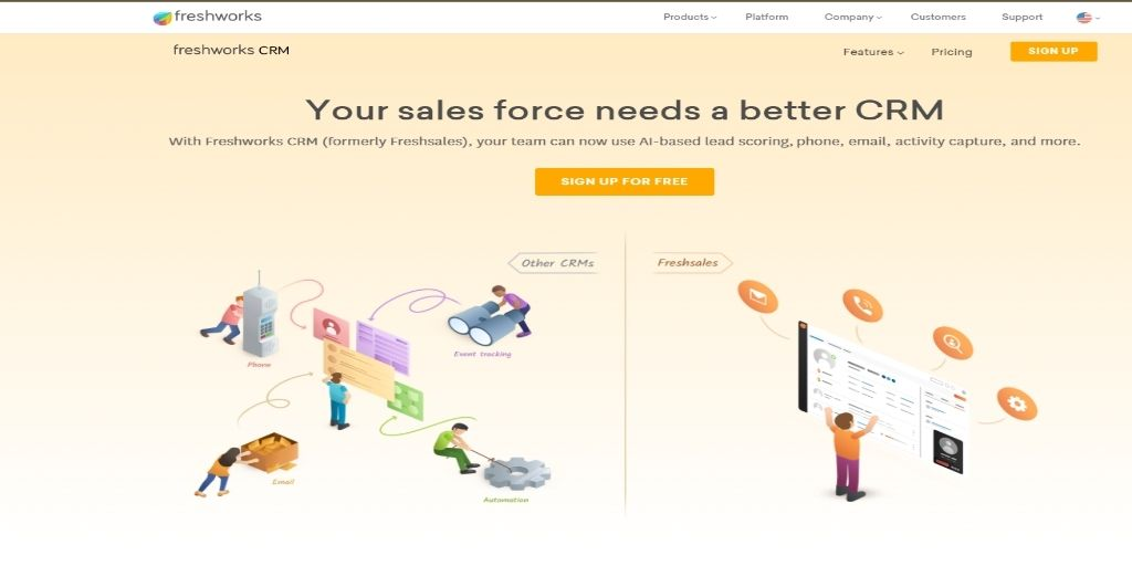 Freshsales Salesforce CRM Software For eCommerce