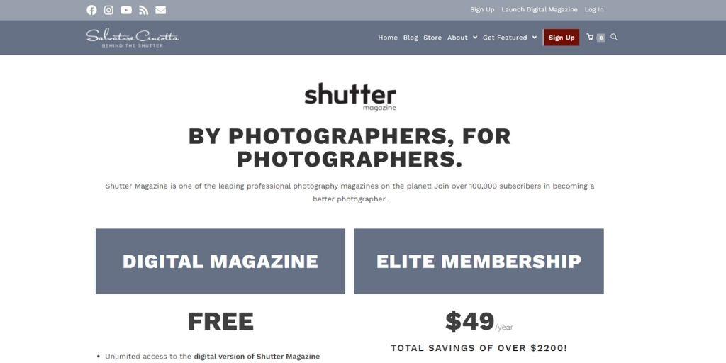 Shutter photography magazine