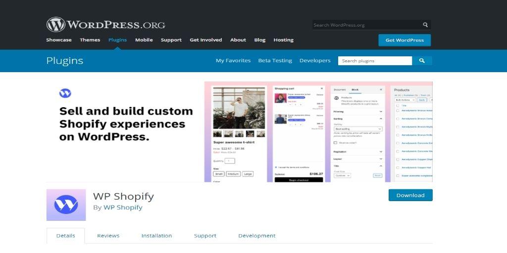WP-Shopify eCommerce WordPress Plugins