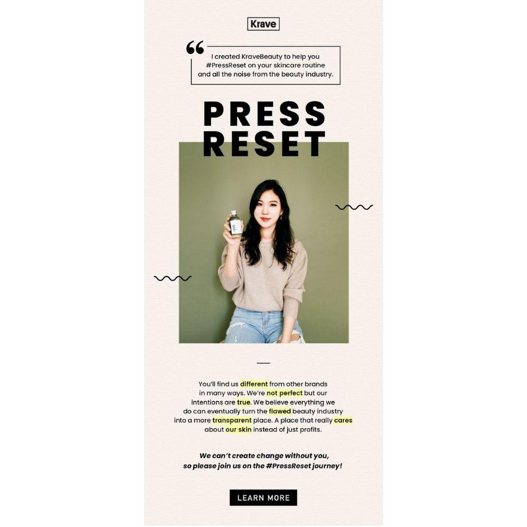 krave ecommerce newsletter