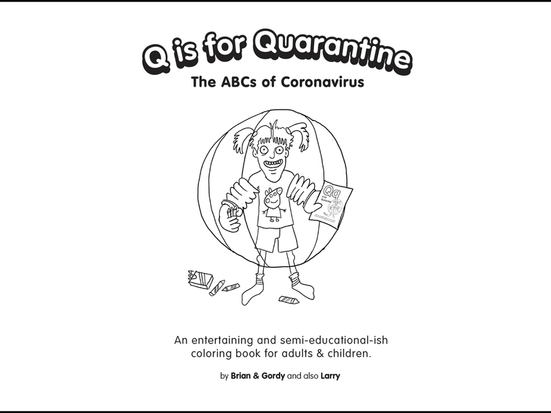 This kids' coloring book explains the A-Z of coronavirus