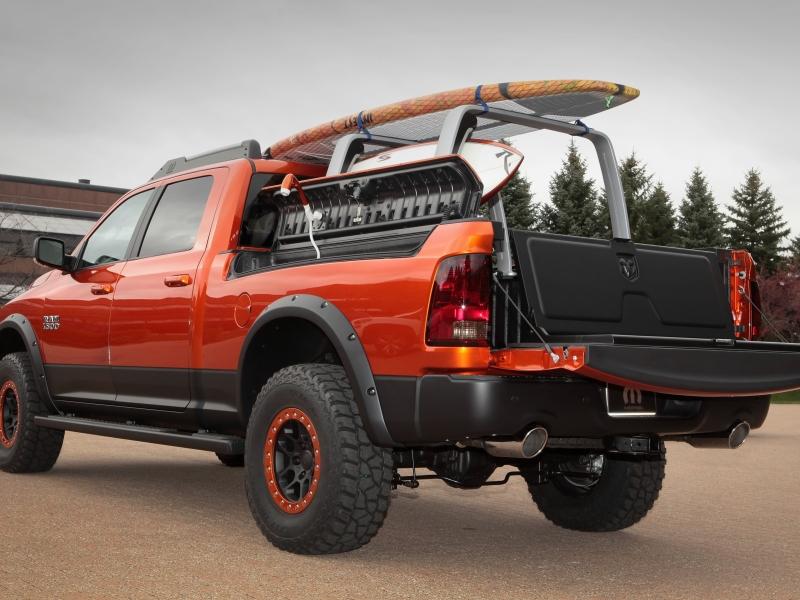 ram 1500 with surfboard rack shower