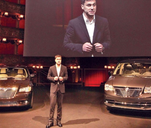 Saad Chehab Ceo Of The Chrysler And Lancia Brands Introduces New Lancia Models At The Stunning Teatro Carignano In Turin Italy