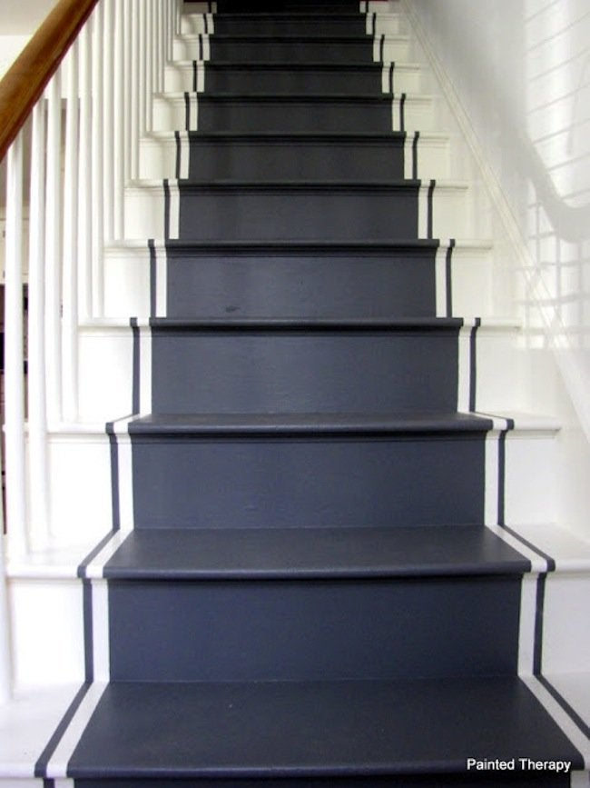 How to Paint Stairs - Mission Accomplished