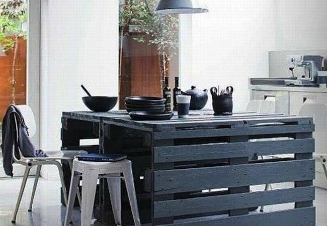 diy kitchen island shipping pallet