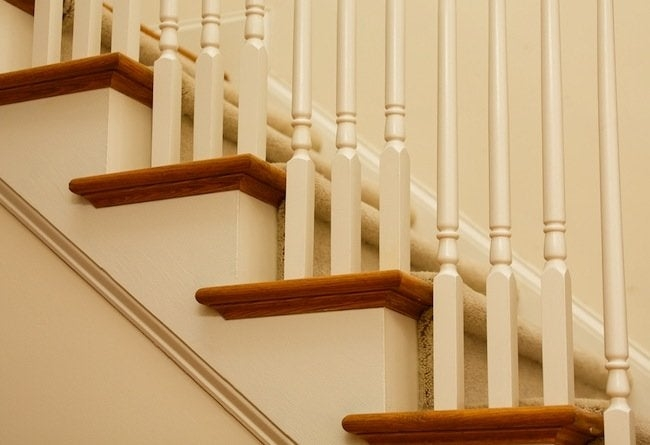 Using Pre Cut Treads And Risers Bob Vila   Carpet Treads For Hardwood Stairs   Walmart Com   Anti Slip   Staircase Makeover   Walmart   Stair Runners