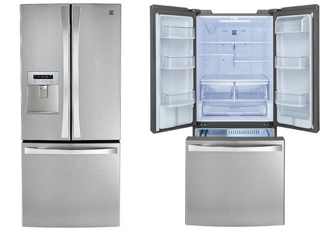 Ft Freezer Steel Refrigerator Door Bottom Elite St 20 French Kenmore Cu Stainless Energy