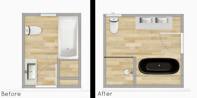 Small Bathroom remodeling - Layout