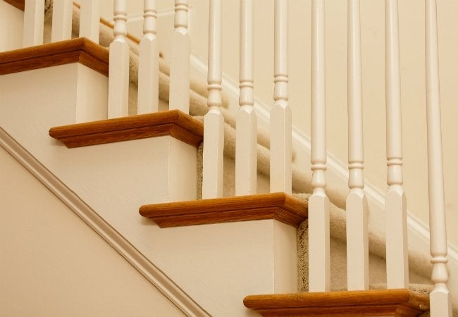 How To Install Carpet On Stairs Bob Vila   Putting Carpet On Stairs   Design   Wear And Tear   Commercial   Stair Turned   Step