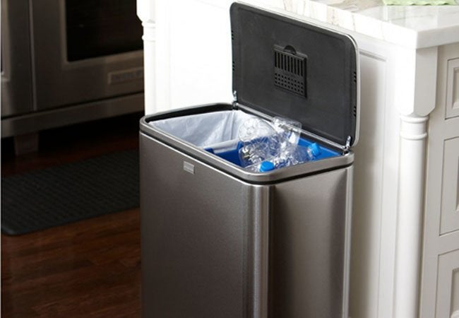 kitchen stainless steel trash can patio kitchens how to deodorize - 3 ways bob vila