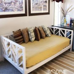 Diy Daybed Sofas Faux Leather And Chairs 5 Ways To Make Your Own Bob Vila Chevron Frame