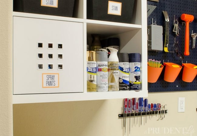 kitchen storage baskets cabinet with trash bin diy garage shelves - 5 ways to build yours bobvila.com