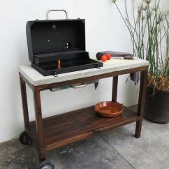 How To Make An Outdoor Kitchen Cabinet Glass Doors Diy A Grill Station Bob Vila Build Cart