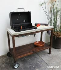 DIY Outdoor Kitchen - How to Make a Grill Station - Bob Vila