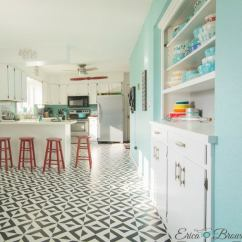 Tile Kitchen Floors Prefab Countertops Painting All You Need To Know Bob Vila With A Stencil