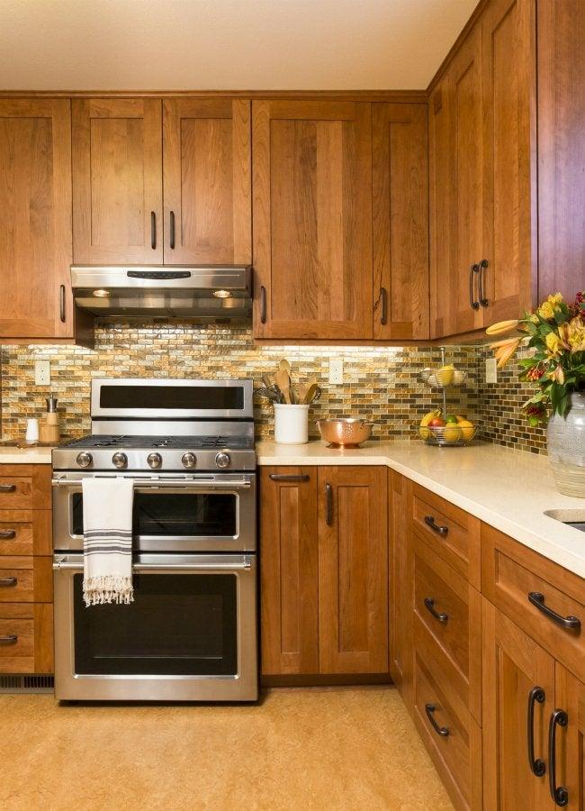 Staining Birch Wood Kitchen Cabinets