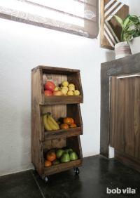 DIY Rolling Cart Tutorial for Extra Kitchen Storage - Bob Vila