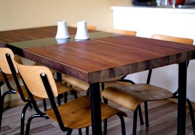 diy kitchen tables oak islands table bob vila wood dining