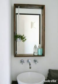 How to Frame a Bathroom Mirrorwith a Ledge! | Bob Vila