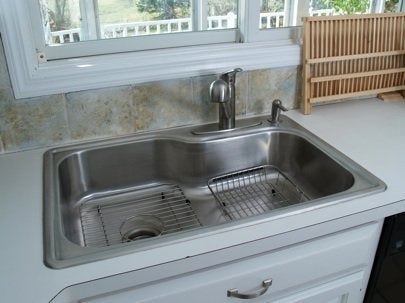 new kitchen sink square oak table how to install a bob vila