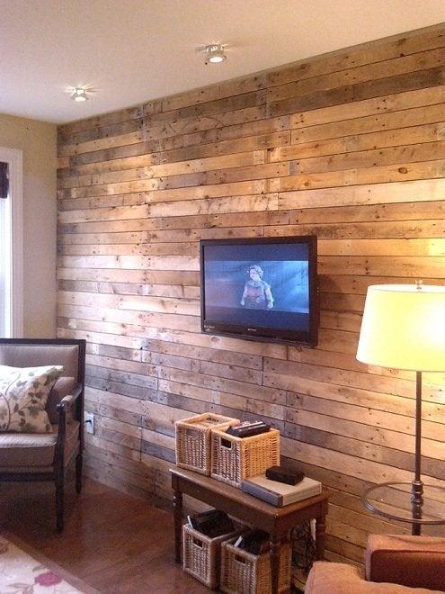 wood wall living room black and white tile floor diy treatments 5 ideas bob vila momandherdrill pallet treatment rev