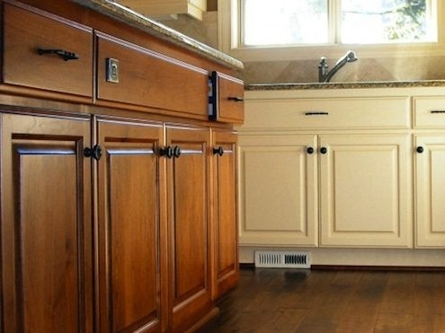 kitchen cabinet stain tall garbage bags how to restore cabinets bob vila s blogs painted and stained