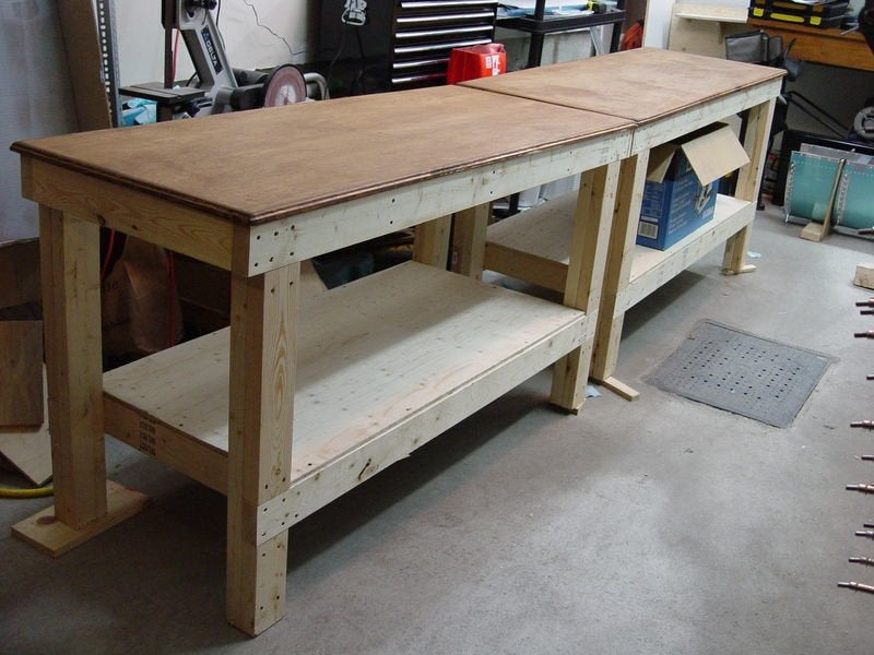 build your own garage workbench