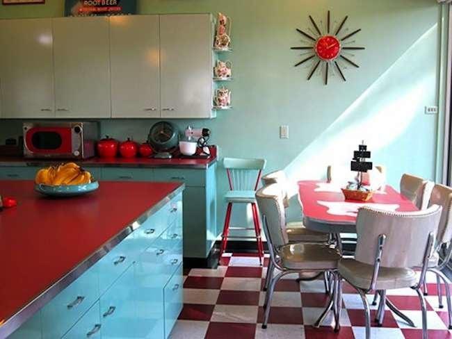 red and white vintage kitchen Retro Kitchen - 10 Design Essentials - Bob Vila