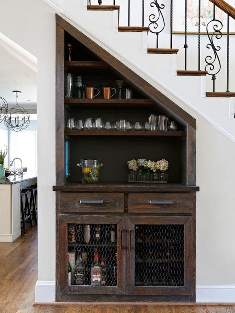 Under Stair Storage 17 Clever Ideas Bob Vila   Front Side Staircase Design   Out Staircase   Gallery Photo Indian   Outer Wall   Home Front Arch   Indian Style
