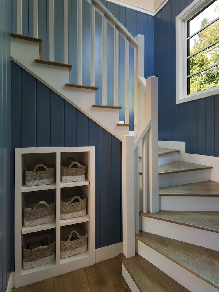 Under Stair Storage 17 Clever Ideas Bob Vila   Stairs Design Outside Home   Single   Steel   Length   Contemporary Exterior   Stairway Outside