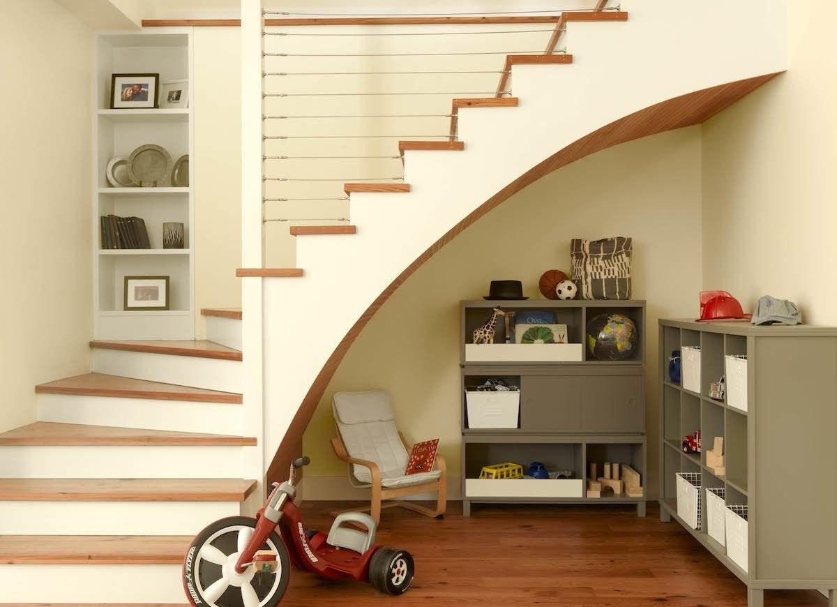 Under Stair Storage 17 Clever Ideas Bob Vila | Bar Under The Stairs Design | Escalera | Kitchen | Storage | Basement Remodeling | Attic Stairs