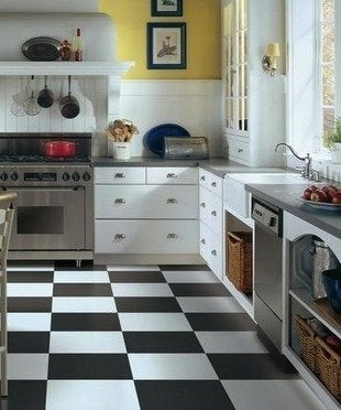 Armstrong vinyl tile kitchen flooring