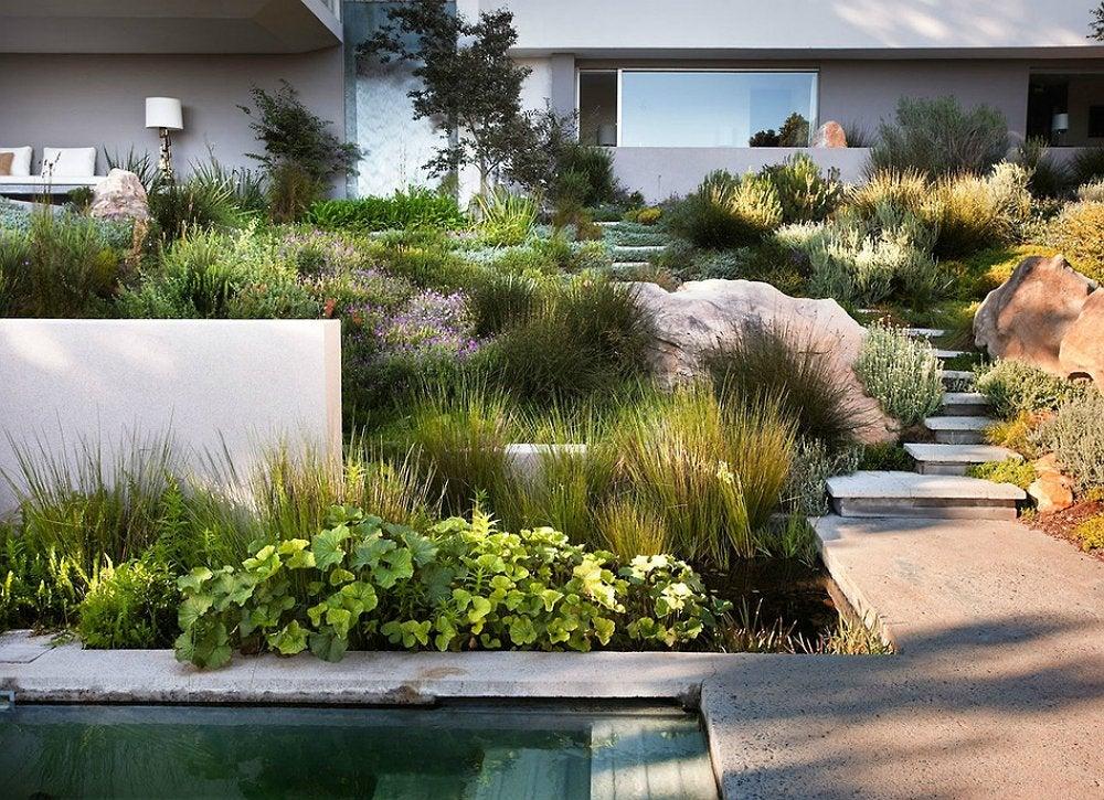sloped backyard - small