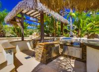 Tropical Outdoor Kitchen - Outdoor Kitchen Ideas - 10 ...