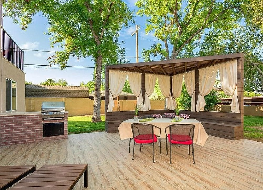 outdoor patio curtains - backyard