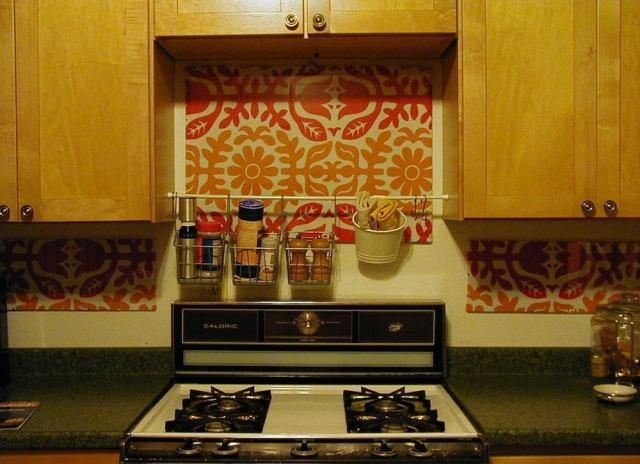 Tension rod kitchen storage