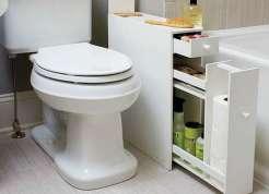 Narrow Bathroom remodeling Cabinet