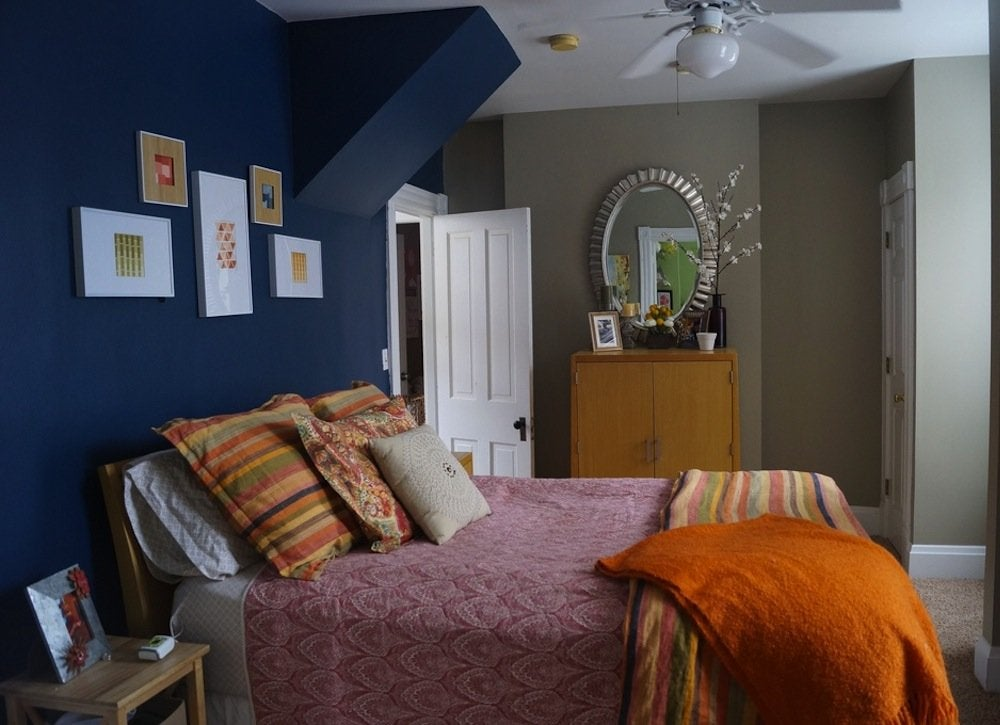 small bedroom spaces Blue Bedroom - Paint Colors for Small Spaces - 7 to Try