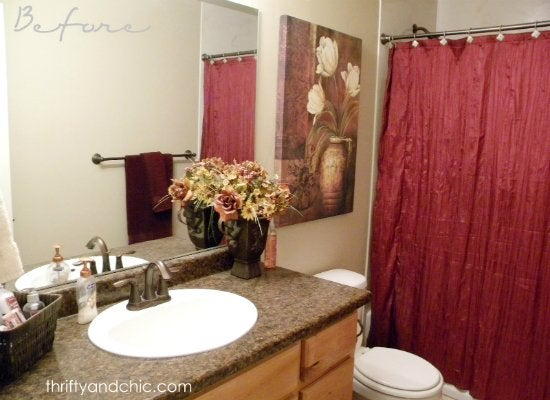 Dated bathroom before
