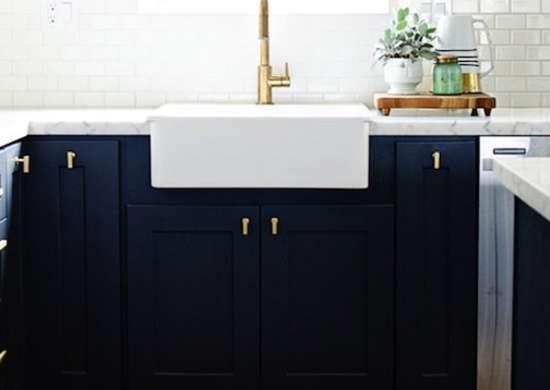 navy blue painted kitchen cabinets DIY Kitchen Cabinets - Simple Ways to Reinvent the Kitchen - Bob Vila