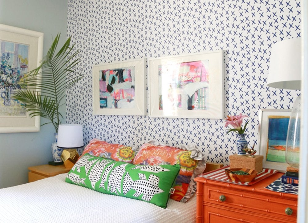 Removable Adhesive Wallpaper  DIY Bedroom Ideas  11